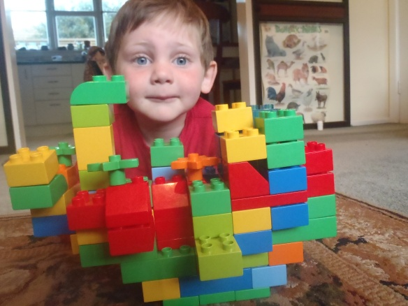 I am super excited about our upcoming visit to Omi and Abi's house. Mom told me we'll be taking THREE planes to get there, so I built a plane with my legos. It held together because it has a strong foundation, just like Daddy recommends.