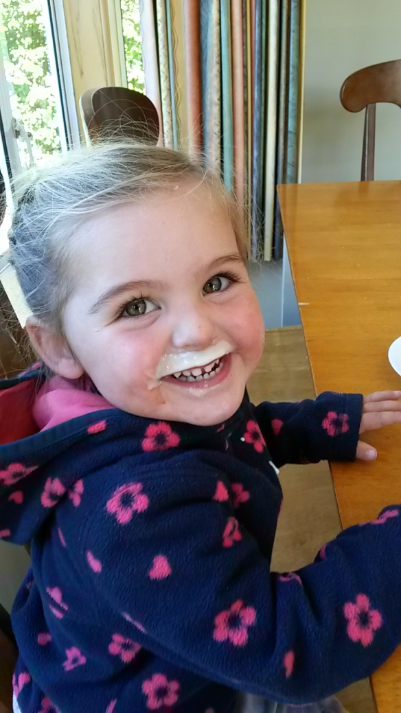 Yogurt drink makes the best milk mustache ever!