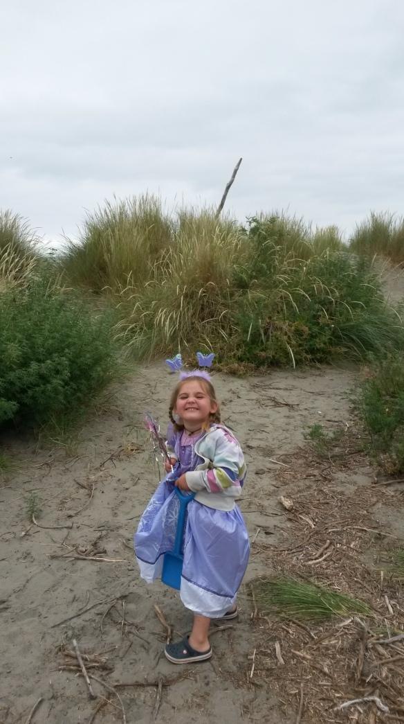 A princess at the beach!