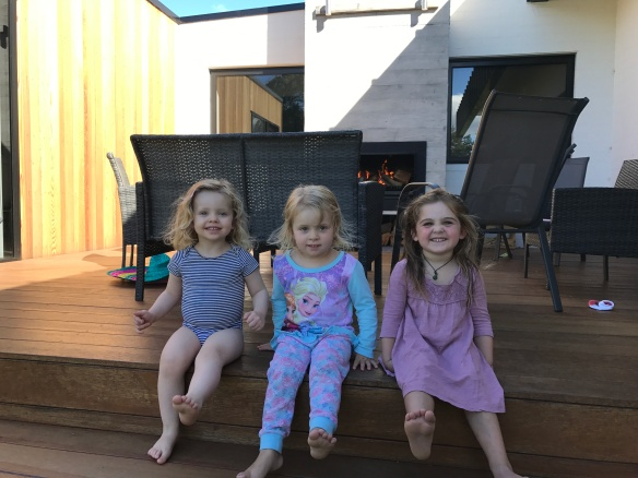 Charlotte, Stella and Naomi.  A TROUP of happy little girls.
