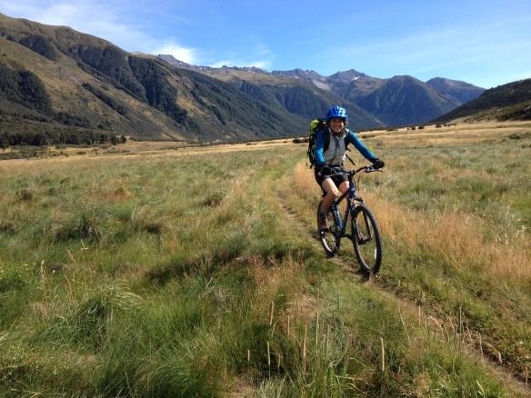 Grassy river flat biking is fast!
